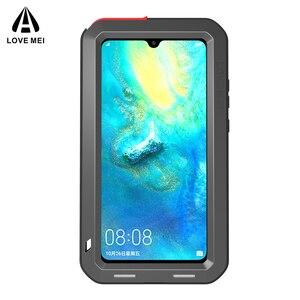 Image 5 - Dla Huawei Mate 20 oryginalny Lovemei aluminium Metal + szkło gorilla Shock Drop wodoodporna obudowa dla HUAWEI Mate 20 pro/Mate 8 9