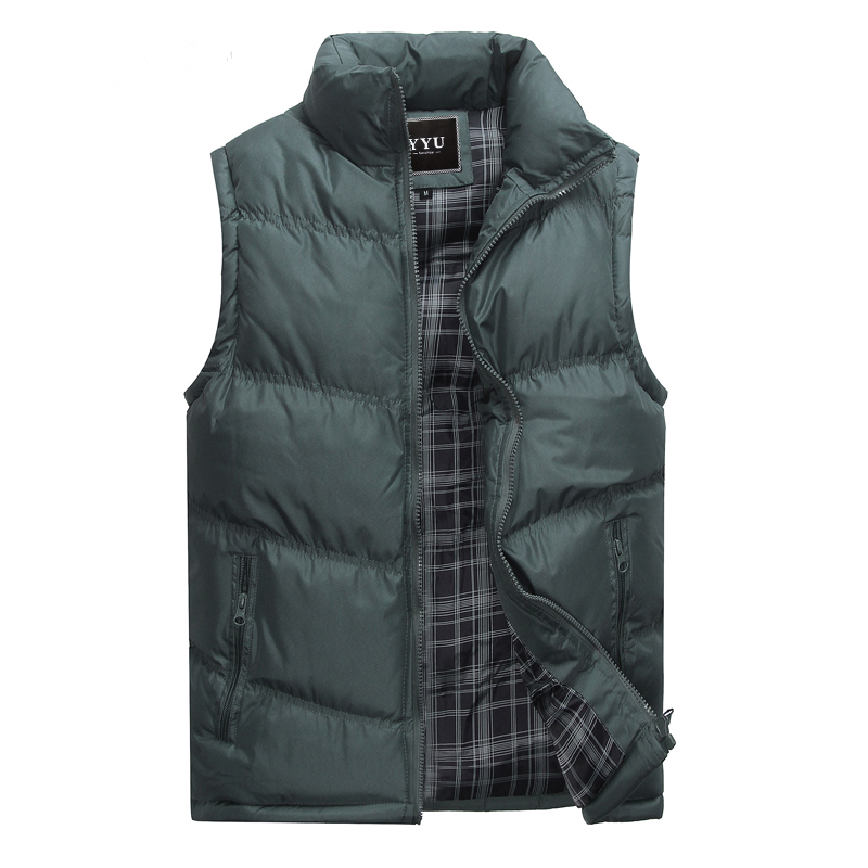 82a364f9ec840a New Brand Mens Jacket Sleeveless Vest Winter Fashion Casual Coats Male  Cotton Padded Men s Vest Men Thicken Waistcoat 3XL X378-in Vests    Waistcoats from ...