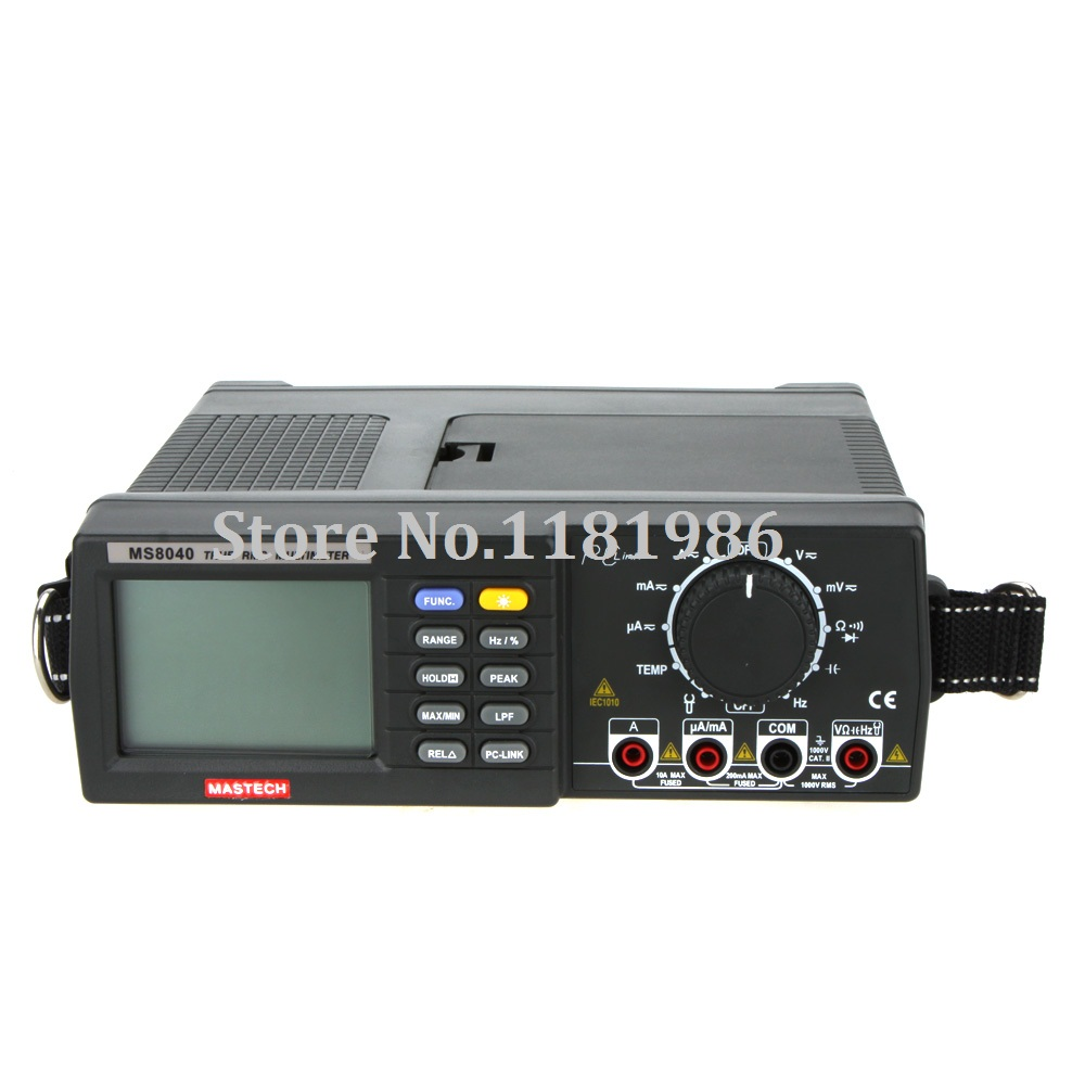 MASTECH MS8040 AC/DC Voltage Current Auto Range Bench Precision Digital Multimeter True RMS Low-pass Filter & RS-232 Interface
