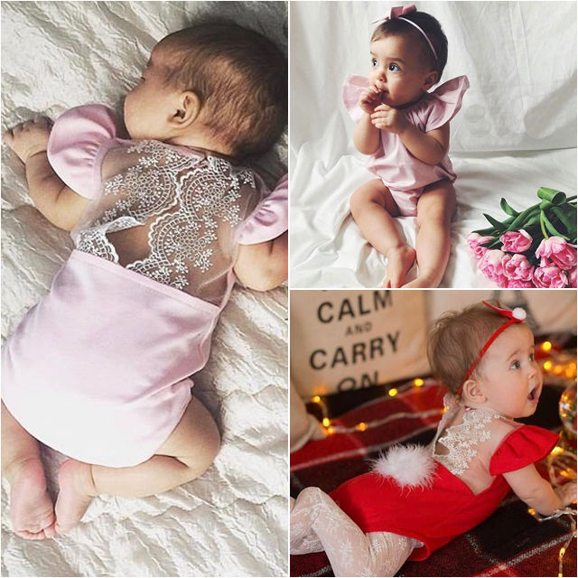 Aus Dem Ausland Importiert Infant Kinder Neue Ankunft Mädchen Sommer Bodysuits Kleinkind Neugeborenes Mädchen Body Lace Floral Overall Outfits Kleidung