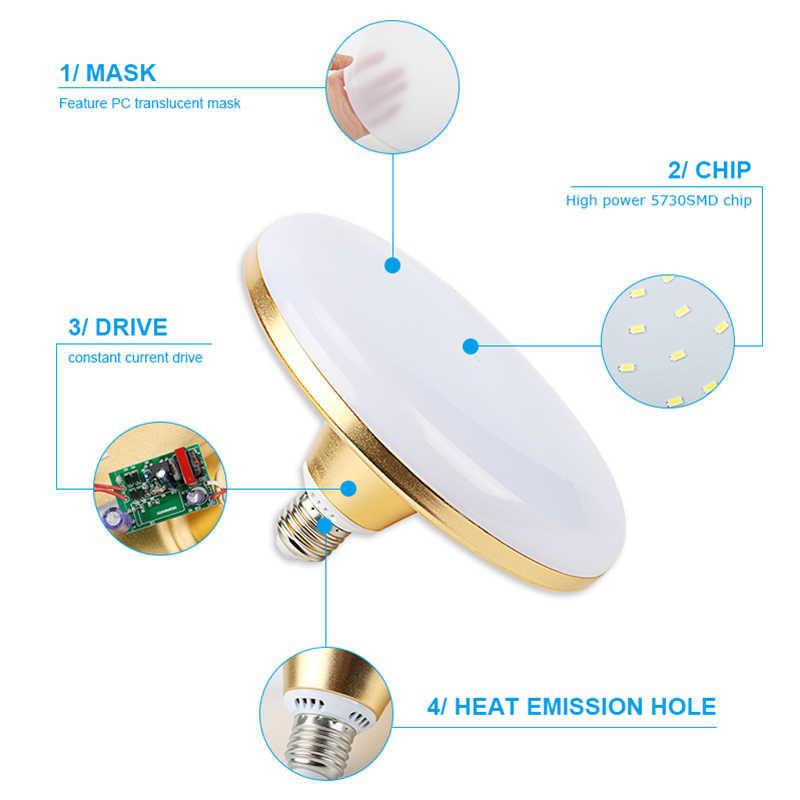 Bombilla LED UFO E27 AC220V, Bombilla de bola de burbuja de 15W 20W 30 W, Bombilla de ampolla, bombilla led para iluminación de oficina del hogar