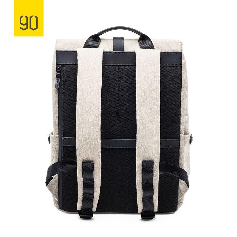 2019 nouveau Xiaomi 90FUN meuleuse Oxford sac à dos décontracté 15.6 pouces pochette d'ordinateur Style britannique sac à dos pour hommes femmes école garçons filles - 4