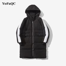 YoFaQC 2017 Winter Long Parka Coats for men plus size 3xl long sleeve zipper jacket men Korean style waterproof warm