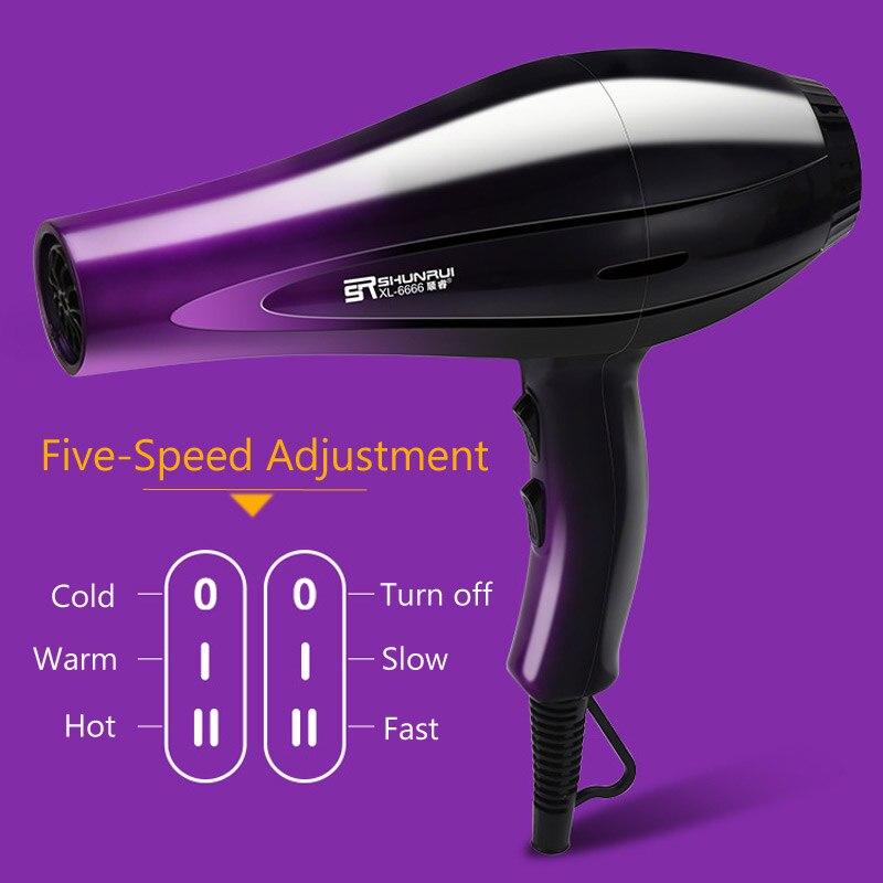 Secador de cabelo profissional poderoso, ferramentas de