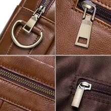 Business Genuine Leather Men Briefcase Handbag