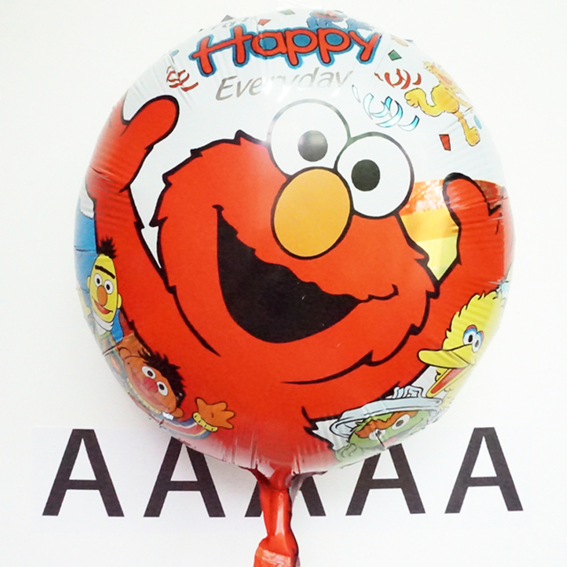 5pcs Lot 4545cm Sesame Street Balloon Happy Birthday Party Decoration Elmo Mylar Balloons Baby Kids Cartoon Ballons Gift