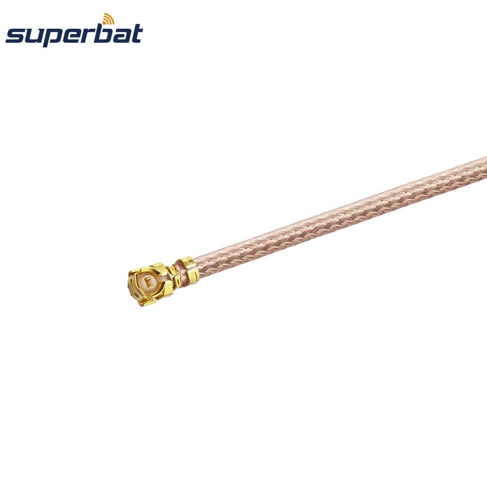 Superbat IPX/U.Fl To SMA Jack Female Bulkhead Pigtail Coax Extension RF Cable Assembly RG178 20cm For Wifi Mini-PCI
