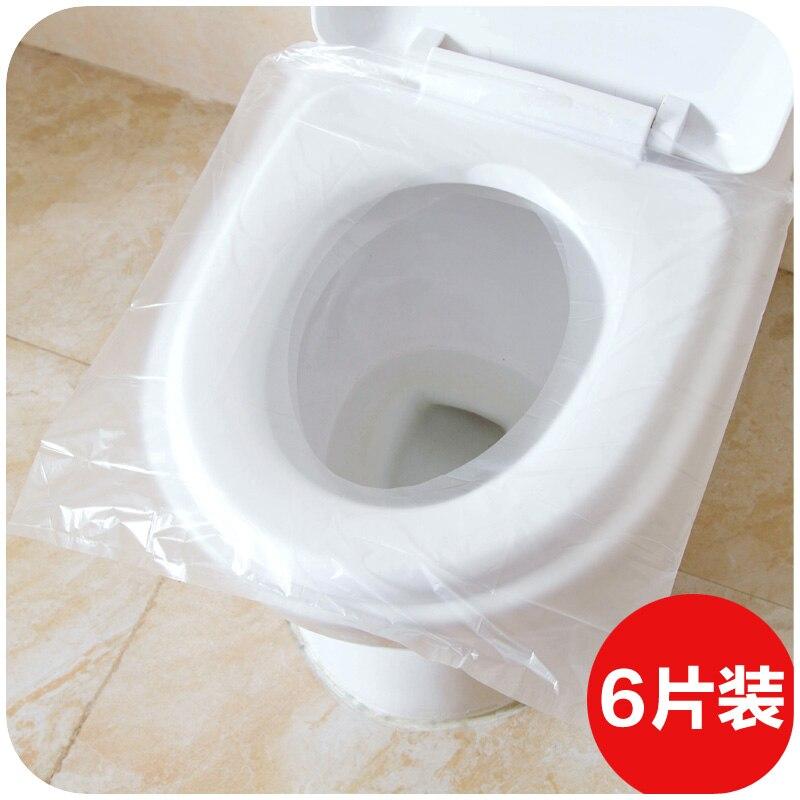 Travel time toilet seat 6 loaded, tourism waterproof plastic PE film toilet hygiene septum