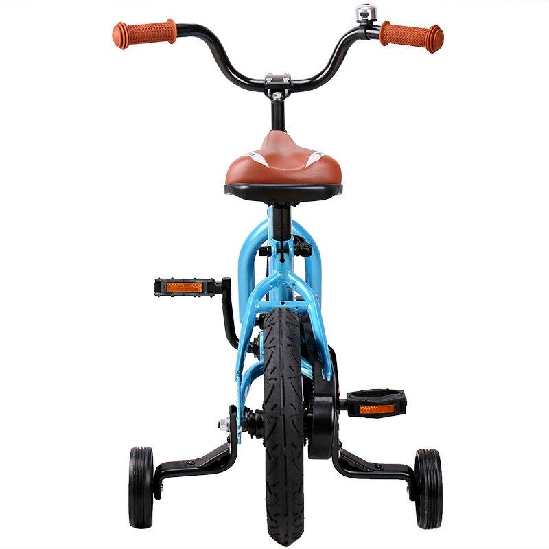 HTB1zG9pbWSWBuNjSsrbq6y0mVXa1 12 Inch Kids Bike Totem DIY Blue Steel Kids Bike DIY Sticker Kids Bicycle with Detachable Training Wheels and Bell