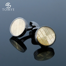TOMYE Round Black Gun Gold Suit Shirt Wholesale Vintage Knot Cufflinks Stud Men XK19S085