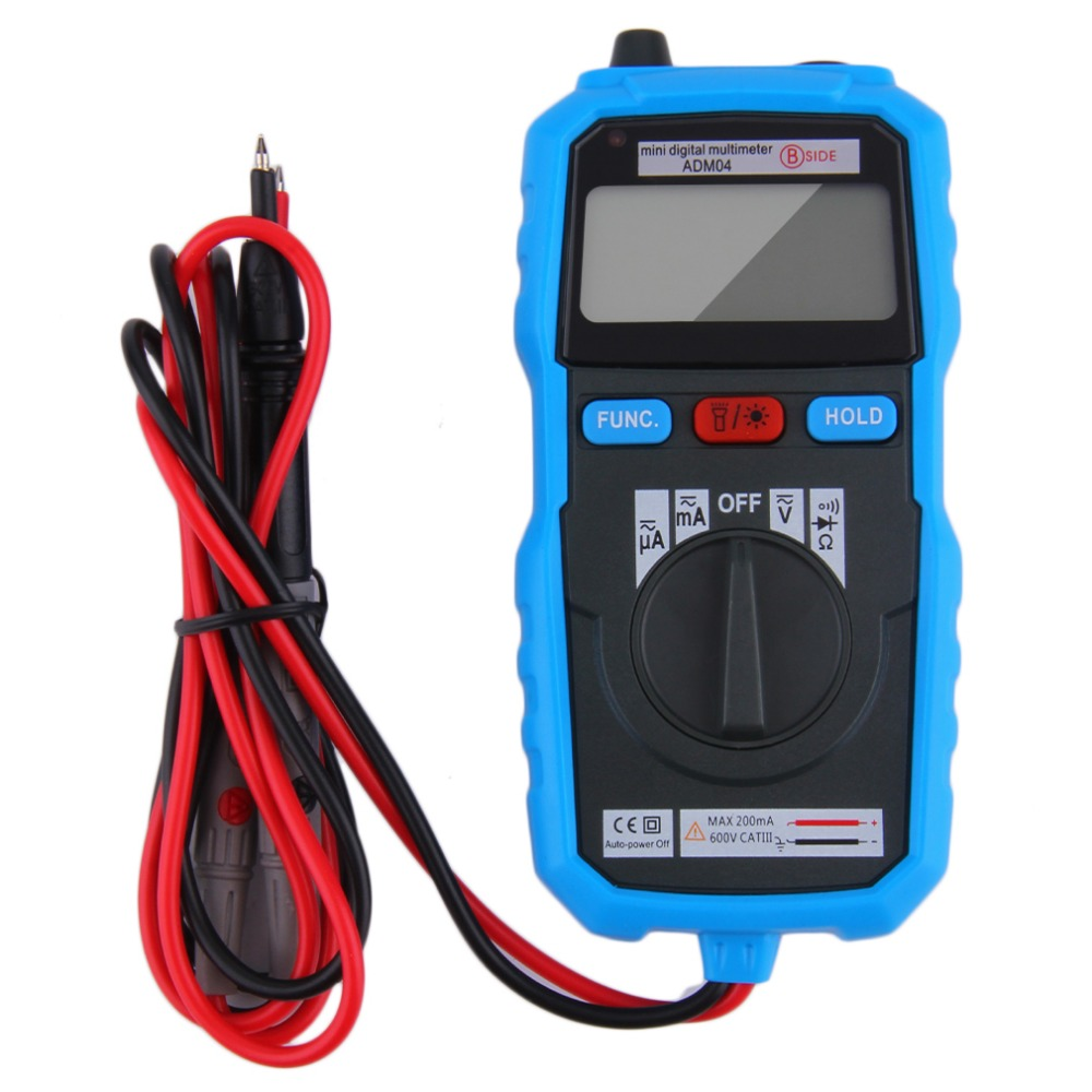 1 pcs BSIDE ADM04 Handheld Mini LCD Backlight Digital Multimeter With Test Lead Free Shipping Wholesale Drop Shipping