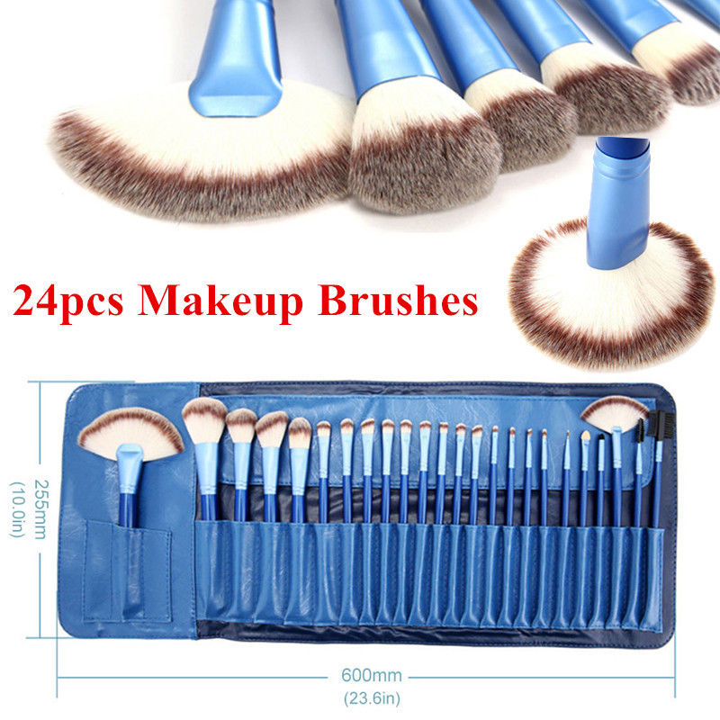 Vander Professional 24PCS/Set Synthetic Cosmetic Makeup Brushes Kit Face Blush Lip Kabuki Brush MULTIPURPOSE pincel maquiagem 7pcs makeup brushes professional fashion mermaid makeup brush synthetic hair eyebrow eyeliner blush cosmetic