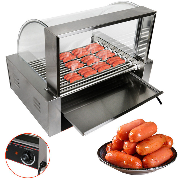 Commercial  Hot Dog Roller Grill Cooker Machine