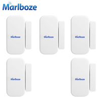 5pcs Lot High Quality 433MHZ Home Security Wireless Door Window Sensor Detector With Battery For GSM