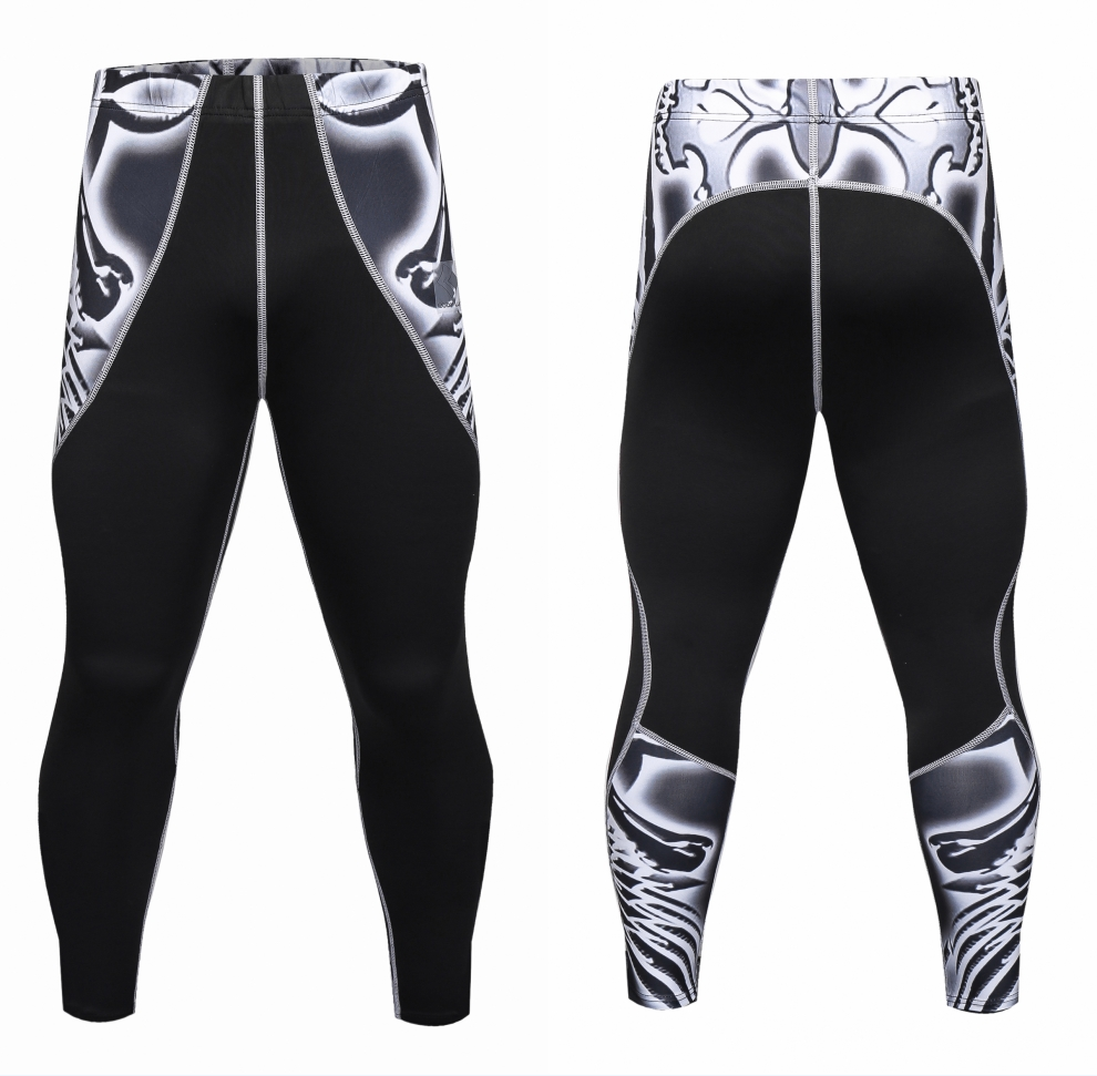 Mens Compression Pants sweatpants Slim Tights Splicing Fashion Pants Excercise bodybuilding Men Joggers Skinny Leggings Trousers