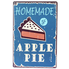 Shabby Chic Metal Tin Sign Plate Vintage Homemade Pie Plaque Poster Bar Pub Cafe Wall Painting Home Kitchen Decor Free Ship A671(China)