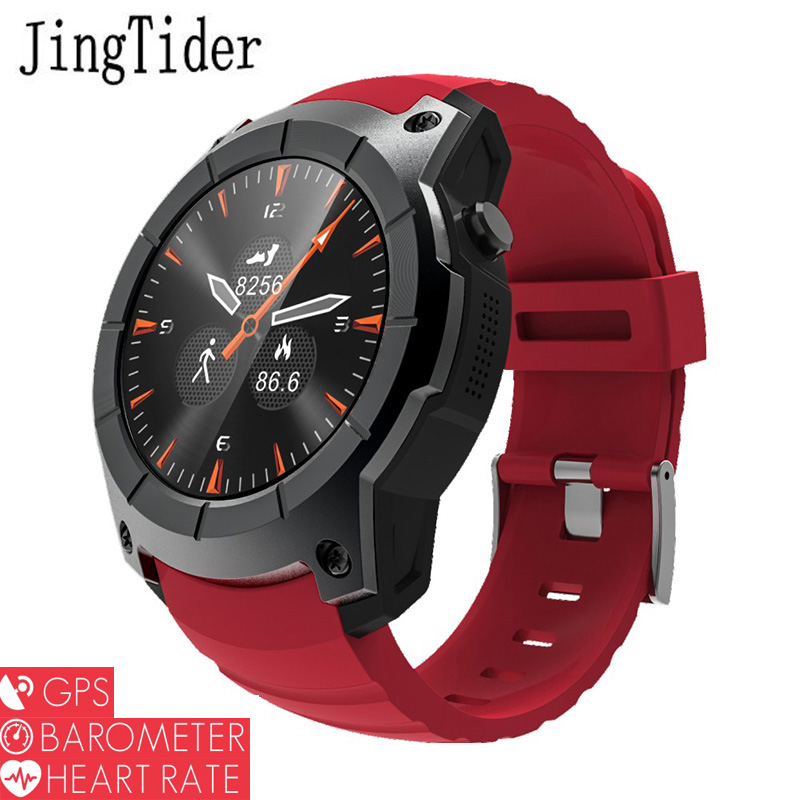 JingTider Professional Sport Watch S958 GPS Smart Watch Heart Rate Monitor Barometer 1.3 Color Display Sim Card For Android IOS gs8 1 3 inch bluetooth smart watch sport wristwatch with gps heart rate monitor pedometer support sim card for ios android phone
