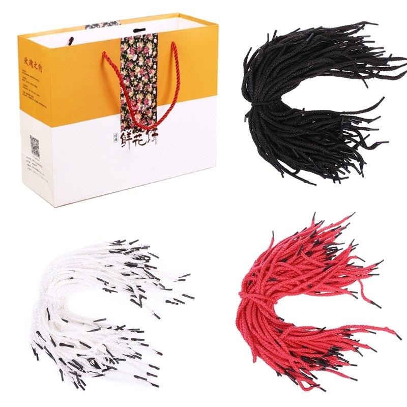 THINKTHENDO 100 Pcs Rope Cord String Replacement Handle for Paper Bag Handbag Strap DIY Polyester FiberTHINKTHENDO 100 Pcs Rope Cord String Replacement Handle for Paper Bag Handbag Strap DIY Polyester Fiber