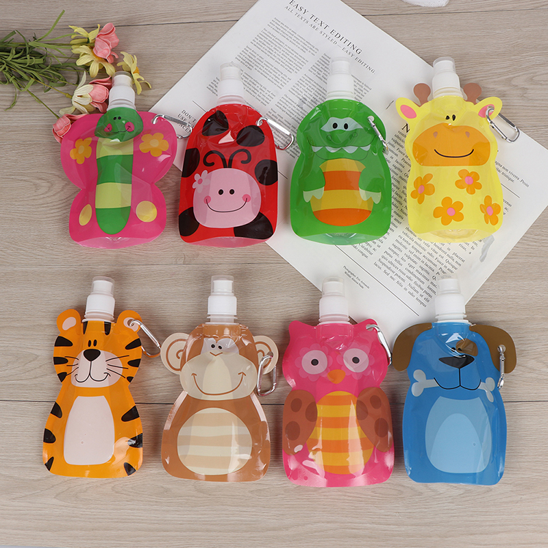 1Pc Smoothie Squeeze Bags Refillable Lock Bag 380 Ml Reusable Food Pouch Baby Packaging Reusable Squeeze Pouch