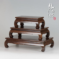 Black Catalpa Wood Rectangular Base Bent Wood Crafts Red Flower Bonsai Jade Ornaments Small Wooden Nest