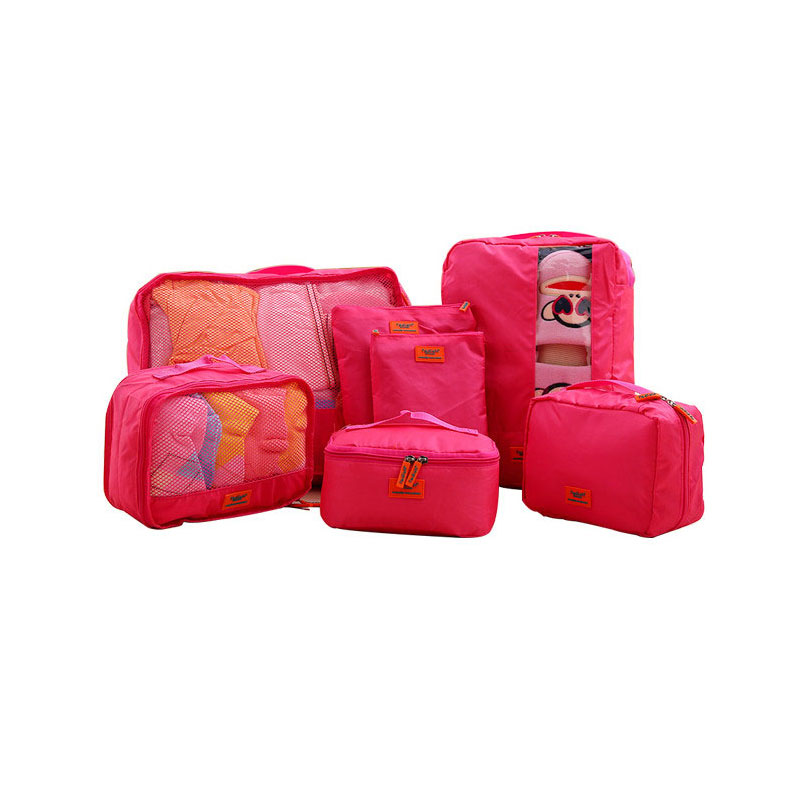 afcdfcf07cfd US $15.4 30% OFF|7 pcs/set Travel Accessories Men and Women's Travel  Packing Cubes Waterproof Durable Oxford Fabric Packing Organizer Bag-in  Travel ...
