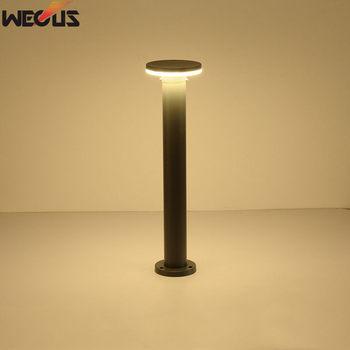 (WECUS) Modern aluminum LED round outdoor lawn lamp, home villa garden engineering lighting