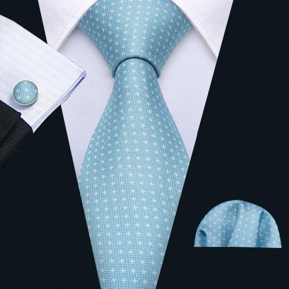 Barry. Wang Mode Blau Neuheit Hochzeit Krawatte Set 100% Seide Desinger Neck Krawatten Für Männer Geschenk Hochzeit Bräutigam Business Party Fa-5120 Gute Begleiter FüR Kinder Sowie Erwachsene