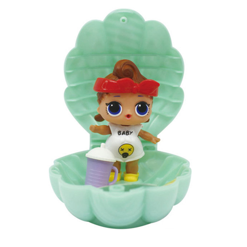 Popular Doll LPS 10CM PVC Multifunctional Shell Hot American Gir Dolls Will Spray Water Decoration Toy Birthday Gift A102