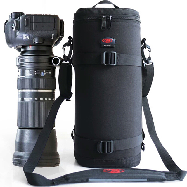 Pro Large Telephoto Lens Thick Padded Bag Case Pouch Protector for Tamron Sigma 150 600mm 50 500mm Nikon 200 500mm Canon 300mm