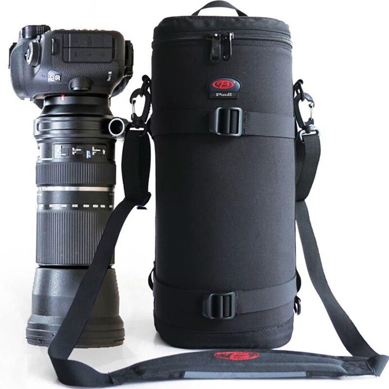 Pro grand téléobjectif épais rembourré sac étui pochette protecteur pour Tamron Sigma 150-600mm 50-500mm Nikon 200-500mm Canon 300mm