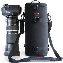 Pro lente teleobjetivo grande bolsa acolchada gruesa funda Protector para Tamron Sigma 150 600mm 50 500mm Nikon 200 500mm Canon 300mm