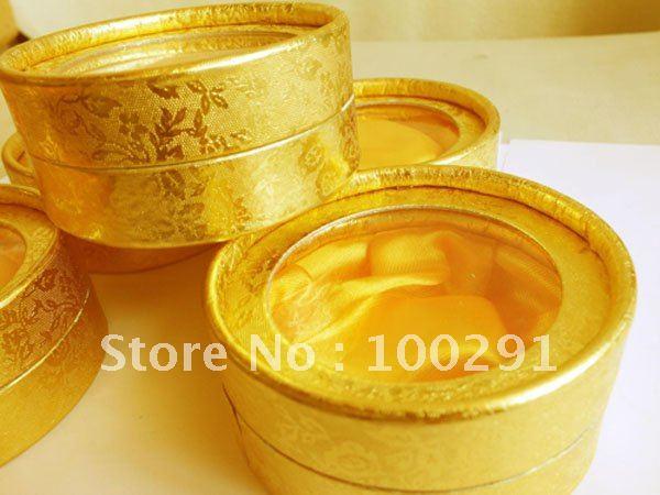 100 шт 85x35 мм золотой цвет браслет круглая коробка