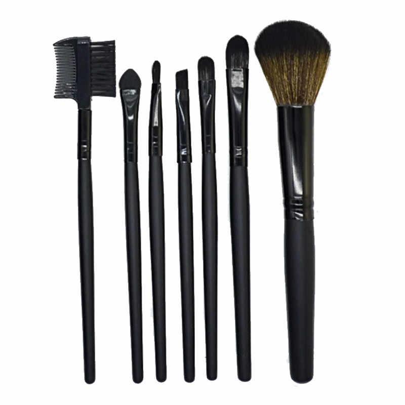 7 Pcs Spazzole di Trucco Kit Set Professionale Ombretto Ciglia Spazzola del Labbro Cosmetici Strumento Pincel Maquiagem Brochas Maquillaje