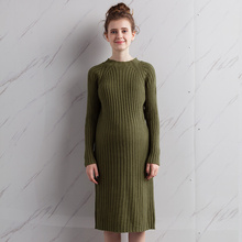 Maternity clothing autumn sweater pullover o-neck long design sweater outerwear one-piece dress maternity autumn and winter top