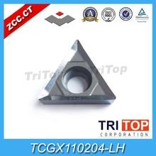 TCGX 110204 LH (10 unids/lote) YD101 ZCC. CT herramienta de torneado de carburo cementado para TCGX110204 LH de aleación de aluminio