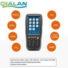 OTDR Tester האופטי מתחם זמן Reflectometer VDSLTester (ADSL/VDSL/OPM/VFL/פונקצית TDR/טון tracker Fibra אופטיקה Tester