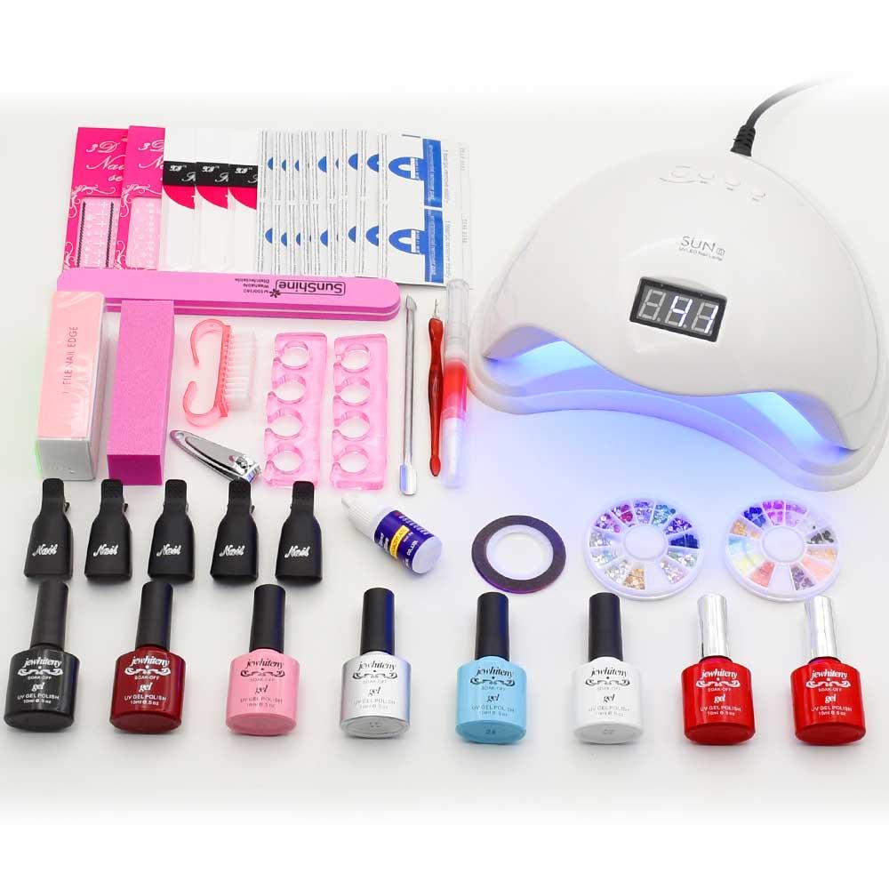 36 W 48 W led compteur de la lampe nail sèche-6 couleurs uv gel ...