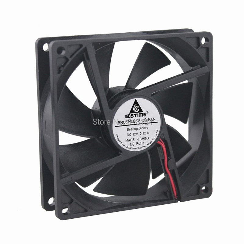 Купить с кэшбэком 5pcs/lot Gdstime 9225S High Speed 92mm 12V 2Pin Ventilation 92x92x25mm DC Cooling Fan
