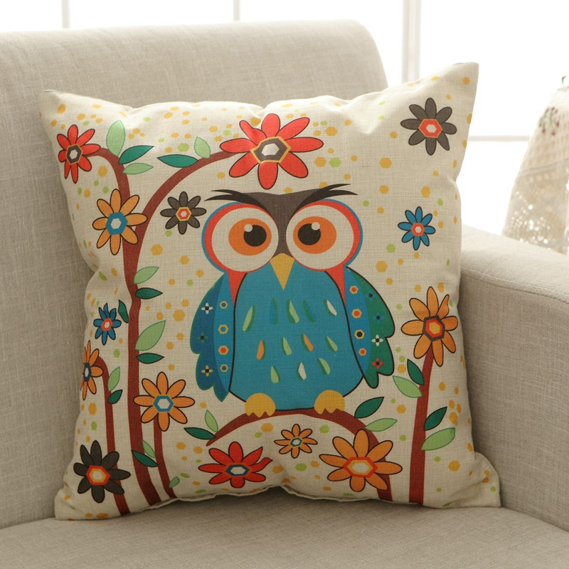 Abc Home Decorative Pillows : wholesale Mr Owl cartoon series style Linen Pillow cushion Home Decorative pillow Sofa pillow ...