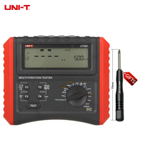 DHL Free Shipping UNI T UT595 Multifunction Loop Testers Earth Ground Line Loop Impedance Tester Insulation Resistance Meter