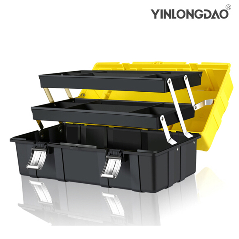 3 Layer Folding Toolbox Multifunctional Plastic Case Household Maintenance Electrician Tool Case Car Tool Box Tool Storage Box