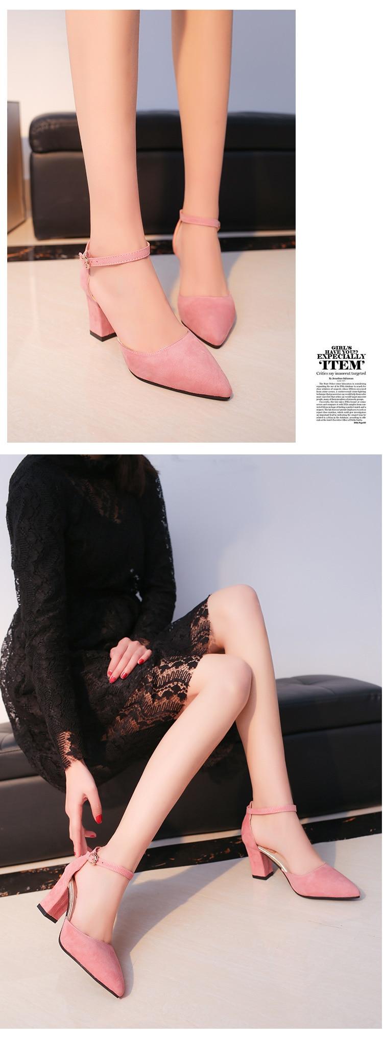 HTB1zGCoXyMnBKNjSZFoq6zOSFXaQ 2019 Fashion High Heels Newest Women Pumps Summer Women Shoes Thick Heel Pumps Comfortable Shoes Woman Platform Shoes s0013
