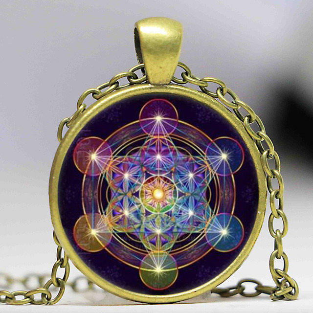 Wholesale glass dome mandala necklace metatrons cube photo cabochon wholesale glass dome mandala necklace metatrons cube photo cabochon glass tibet silver chain pendant aloadofball Gallery