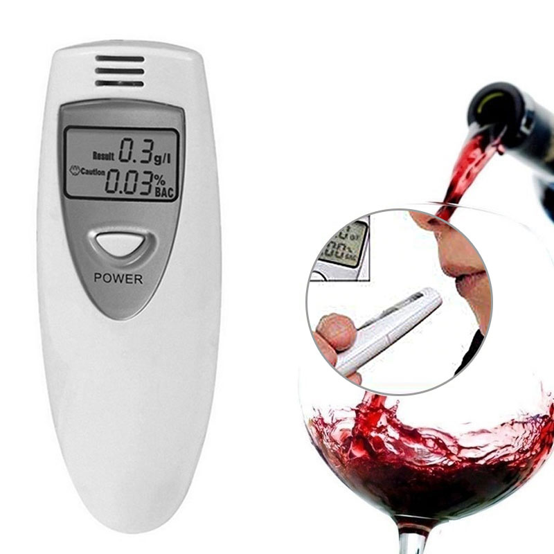 Тестер алкоголя ЖК-дисплей Тестер дыхания Алкотестер детектор Алкотестер Профессиональный Высокочувствительный