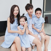 Matching Father Mother Baby Clothing Daughter Mother Maxi Dress Father Son linen Cotton Shorts T shirt Family Matching Clothes