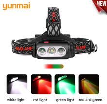 NEW YUNMAI Outdoor camping Portable mini XPE+COB LED Headlamp USB charging Fishing T6 headlights flashlight