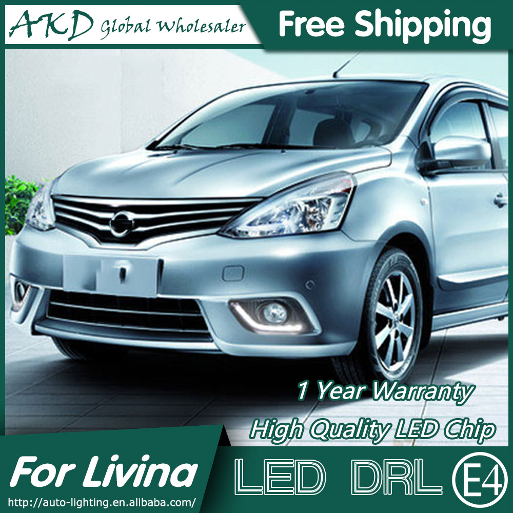 AKD Car Styling for Nissan Livina DRL 2014-2015 Livina LED DRL LED Running Light Fog Light Parking Accessories akd car styling for kia sportage r drl 2014 new sportager led drl korea design led running light fog light parking accessories