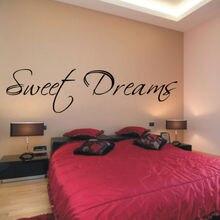 C289  SWEET DREAMS vinyl wall decals bedroom script stickers home decor
