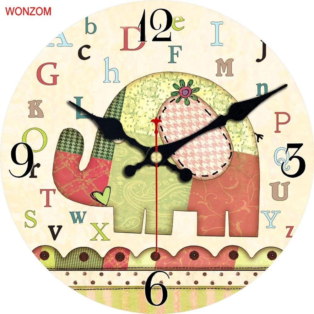 Aliexpress.com : Buy Cartoon Design Wall Clock Silent relogio de ...