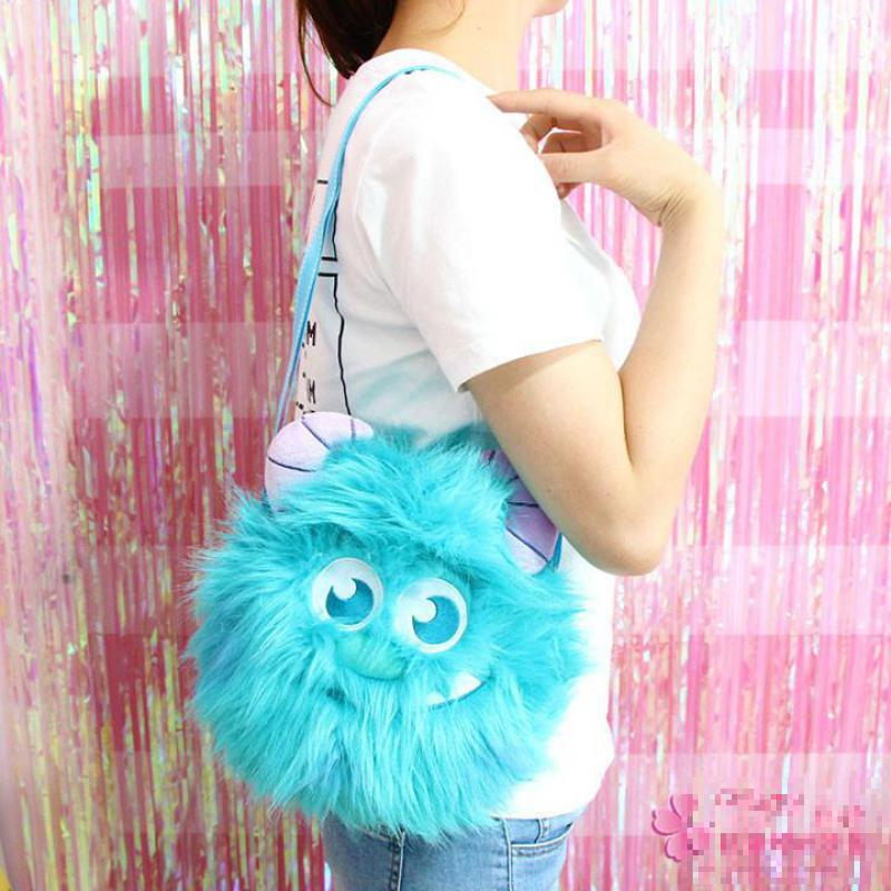Cute University Monster Sullivan Plush Backpack Soft Shoulder Bag Mobile Phone Touch Screen Bag Stuffed Animals Doll For Gifts все цены